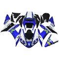 46 Синий Белый Впрыска ABS Полный Обтекатели Для Yamaha YZF 1000 R1 Год 2002 2003 02 03 Мотоцикл Кузов Carenes охватывает