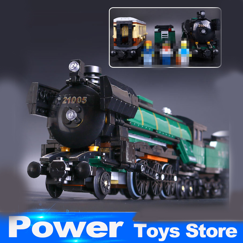LEPIN 21005 1109Pcs Technic Series Emerald Night Train Model Building Kit Blocks Bricks Toy Compatible With Educational 10194 2016 new lepin 21005 creator series the emerald night model building blocks set classic compatible legoed steam trains toys