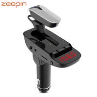 ER9 Car Bluetooth 4.2 MP3 Player FM Transmitter Hands free Call Wireless Headset with 2 USB Charging Ports Phone A2DP Function