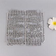 2 шт. посеребренные персонажи для войлочной доски для букв 250 шт. цифры для доски со сменными буквами