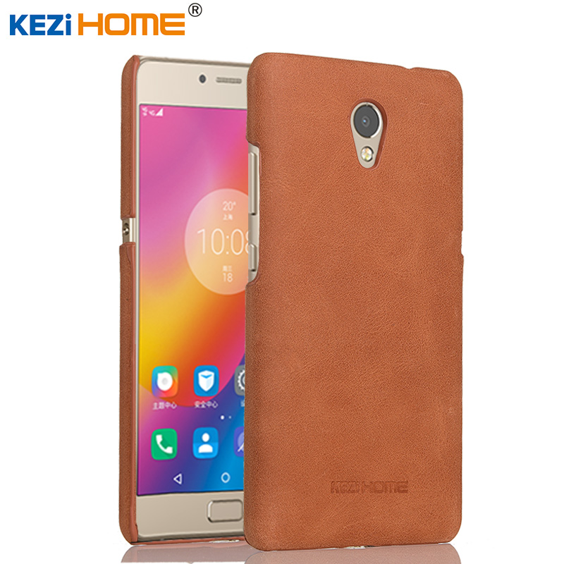 buy online f4f16 dabd5 US $10.7  Lenovo P2 case KEZiHOME Frosted Genuine Leather Hard Back Cover  capa For Lenovo Vibe P2 5.5'' Phone Protector cases coque-in Half-wrapped  ...