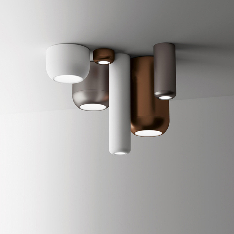 Moderne gratuit bricolage allée Led plafonniers blanc/noir/or Rose corps bureau Hanglamp chambre plafonnier montage en Surface tubulaire