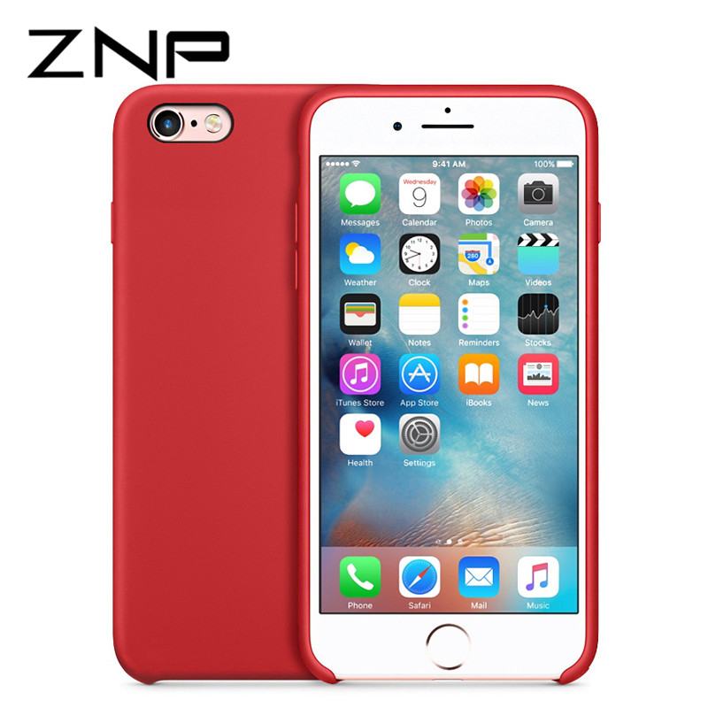 ZNP Luxury Silicone Case for iPhone 6 6s 8 Plus 7 7plus Protective Phone Case for Apple iPhone 6 6s Microfiber Phone Cover Coque