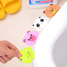 Bath Bathroom Products Cute Cartoon Toilet Cover Lifting Device Lid Portable Handle House Accessories