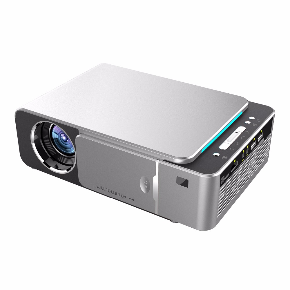 Top UK Plug HD Multimedia Portable LED Projector Projector Home Theater HDMI VGA AV USB SD Lamp Home Theatre W/Remote Control