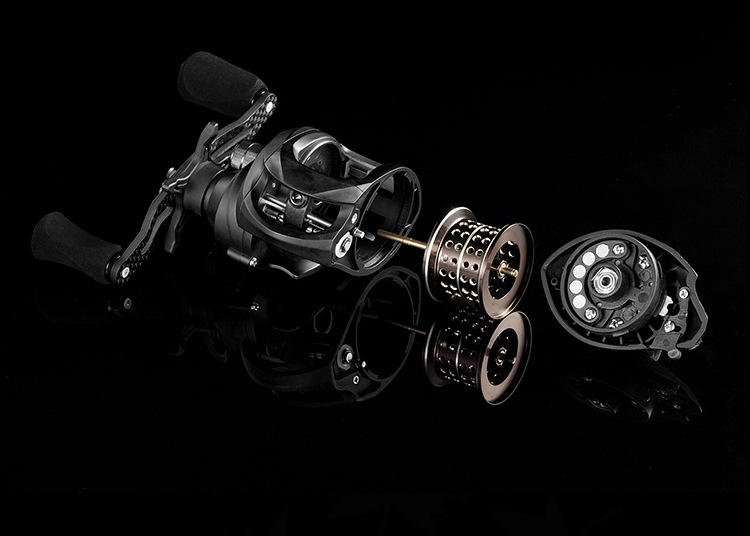 151.6g ultra-léger carbone petit poisson Baitcast bobine 12 + 1 BB 6.3: 1 haute vitesse rapport système de frein magnétique pour lancer un petit appât - 3