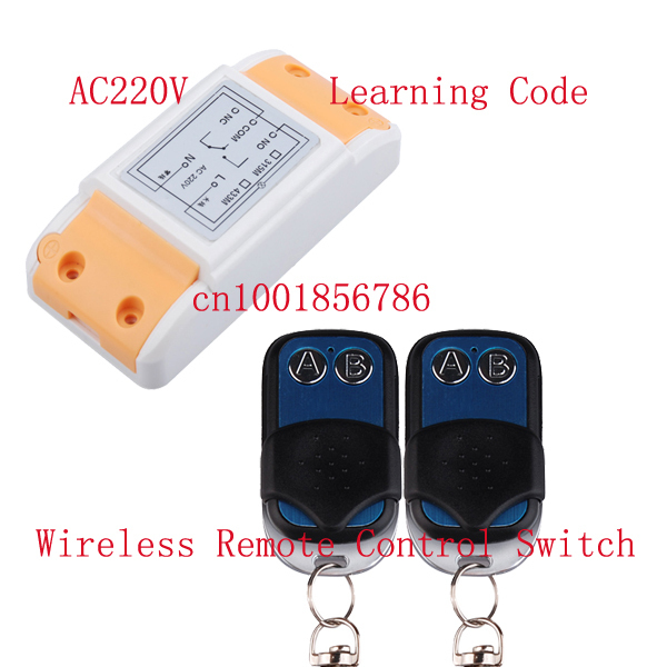 AC220V 10A 1CH universal gate rf remote control switch trigger momentary wireless remote switch smart home automation control 660v ui 10a ith 8 terminals rotary cam universal changeover combination switch