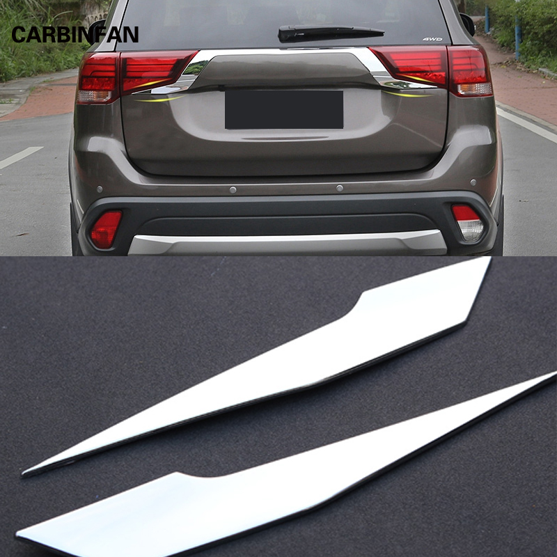 For Mitsubishi Outlander 2016 2017 2018 Rear Light Strips ABS Chrome External Taillight Decoration Cover Trim Car styling  C363-in Chromium Styling from Automobiles & Motorcycles