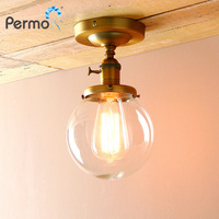 PERMO Retro Globe Glass Sconce Wall Lights Vintage E27 Wall Lamp Luminaire Light Fixtures Home Decorations