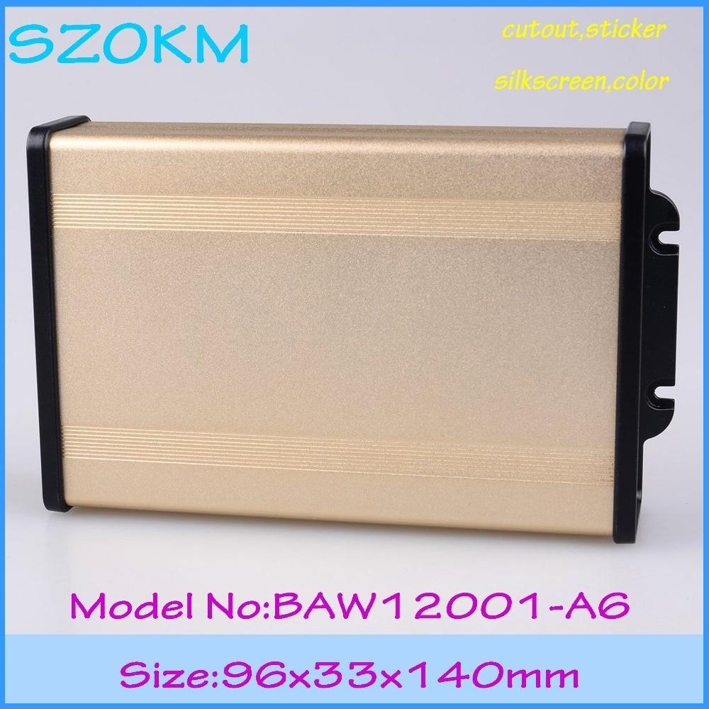 Pequeño alimentación caja del aluminio del szomk caja del proyecto cajas de  salida control electrónico metal cajas de aluminio 866bae3688b9