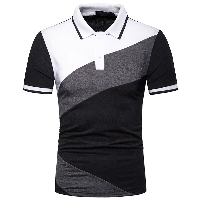 Dropshipping Male Formal   Polos   Patchwork Casual Business Men   Polo   Fashion Father's   Polo   Shirt