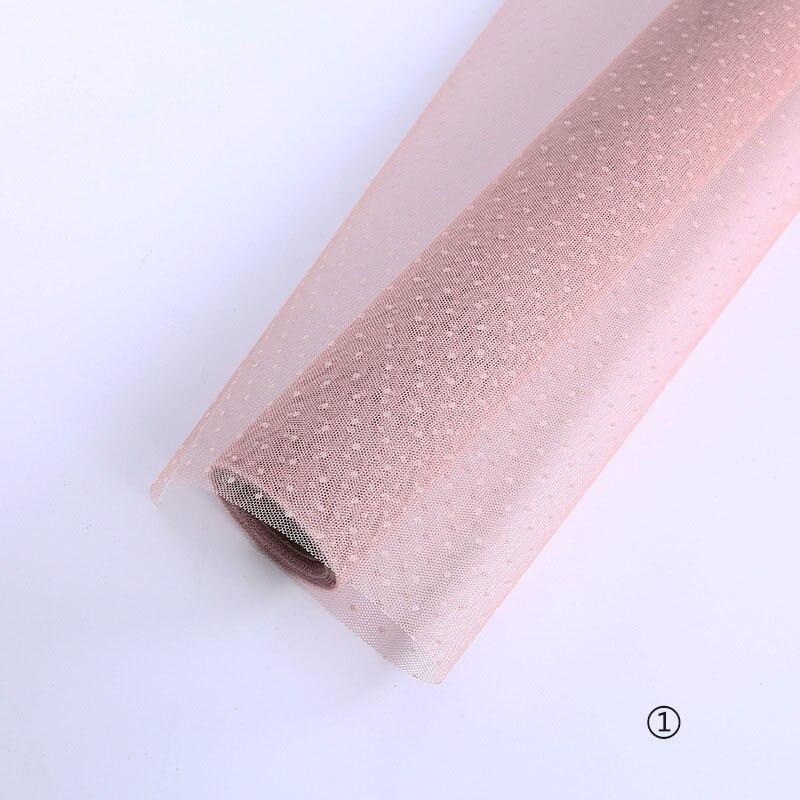 Корейский DIY оберточная сетка для цветов подарочная упаковка материал букет флорист поставки крафт украшения из бумаги для свадьбы 50 см* 5 ярдов - Цвет: 1