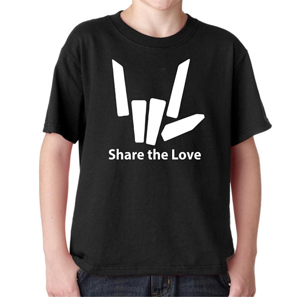 Youth Share The Love T Shirt Different Colors Graphic Share The Love tshirt kids Youth Black White shirt Youtuber Stephen Sharer in T Shirts from Men 39 s Clothing