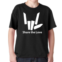 Youth Share The Love T-Shirt Different Colors Graphic tshirt kids Black/White shirt Youtuber Stephen Sharer