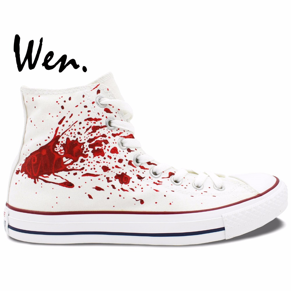 Wen Anime Shoes Hand Painted Custom Design Casual Shoes Tokyo Ghouls Women Men's High Top Canvas Shoes Christmas Birthday Gifts wen anime hand painted shoes design custom soul eater maka albarn death the kid high top men women s canvas shoes