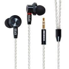 NICEHCK EP35 In Ohr Kopfhörer Einzigen Dynamische Stick HIFI Metall Hohe Auflösung Monitor Headset Abnehmbare MMCX Kabel Versus E700M