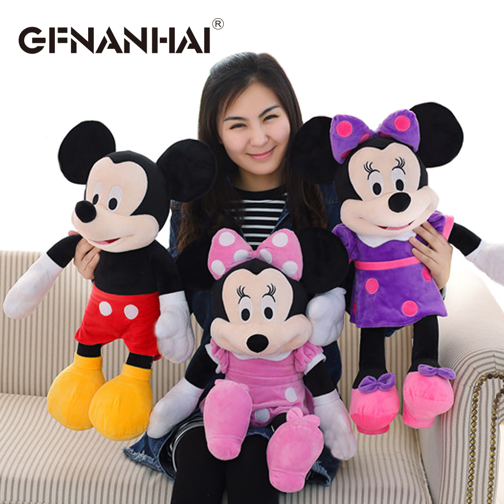 1pc 60cm new style Mickey and Minnie plush toy stuffed soft kawaii animal mouse plush pillow cute birthday gift for kids girls