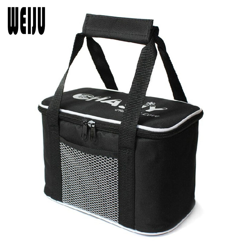 WEIJU 2017 Folding Insulation Cooler Bag Meal Package Take Away Lunch Bag Ice Pack PVC And