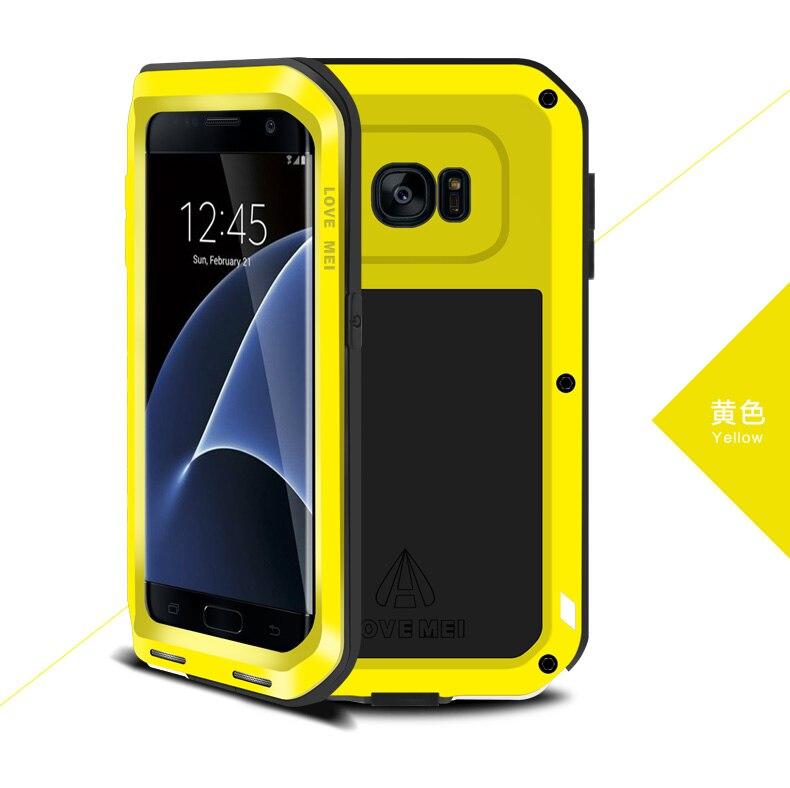 bilder für Ursprüngliche Liebe Mei Leistungsstarke Fall Für Samsung Galaxy S7 Rand/G9350/G935A Shockproof Metallaluminiumkasten-abdeckung + paket