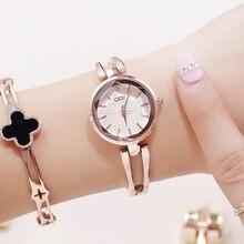Nova Moda Relógios Das Mulheres Pulseira de Aço Inoxidável Marca de Luxo relógios de Quartzo Das Senhoras Vestido Relógios reloj mujer 2017