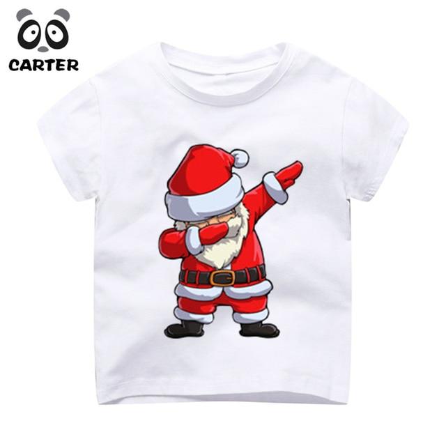 2c0d4e48 Kid's Dabbing Santa Pattern Funny Toddler Thanksgiving T Shirt Children's  Christmas Tops Boys Girls Kawaii Tees Toddler Tops