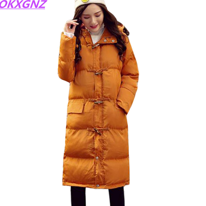 2017 New High Quality Down Cotton Jacket Women Parkas Hooded Long Outerwear Thicke Warm Winter Jackets Coats Women clothing K709 2017 fashion boy winter down jackets children coats warm baby cotton parkas kids outerwears for