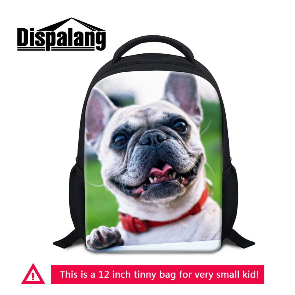 Dispalang Kindergarten Mini Backpack Cute Dog 3D Printing School Bags Kids Small Daily R ...