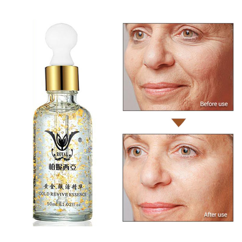 Super Anti Wrinkle Anti Aging Collagen 24k Gold Essence Skin Whitening Cream Moisturizing Face Care Hyaluronic Acid Liquid золотые серьги по уху
