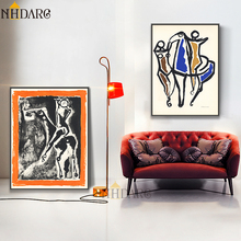Vogue Fashion Vintage Abstract Horse Canvas Print Painting Poster Art Wall Pictures for Living Room Home Decor