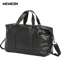 Leather PU Sports Training Bag Gym for Men Fitness Shoulder Bag Large Travel Pocket Women Durable Soft Yoga Handbag