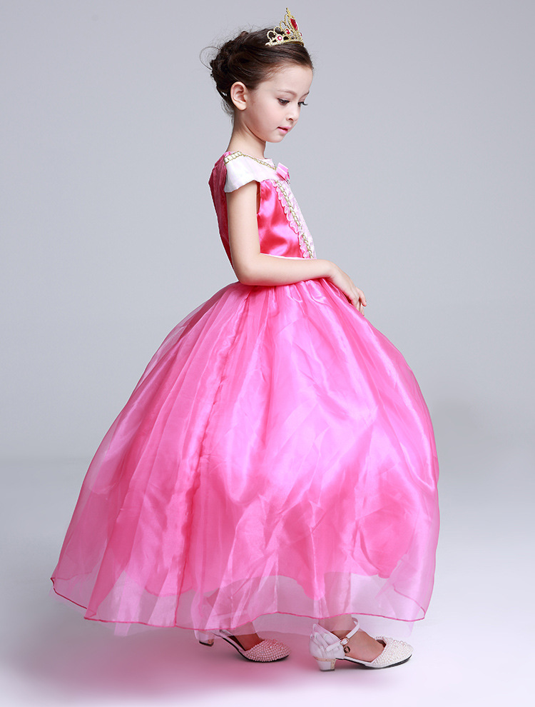 langes Mädchenkleidprinzessin-Schlafschönheit formales Kleid - Kinderkleidung - Foto 3