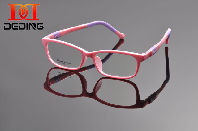 536230e598 DEDING Unbreakable Kids Silicone Rectangle Flexible Glasses Frame Size 47