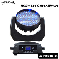 20 шт./лот светодиодный Светодиодный луч перемещение головного света 108x3 Вт rgbw RGBW 16 каналов DMX для dj дискотеки показать огни