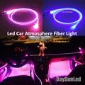 DIY Atmósfera Coche Ligero Iluminador DC12V + 1 M Dia 3mm Lado Resplandor De Fibra Óptica