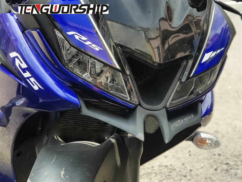 Teng Worship For YAMAHA YZF R15 V3 0 2017 2018 Motorcycle Front Fairing  Aerodynamic Winglets ABS Plastic Cover Protection Guards