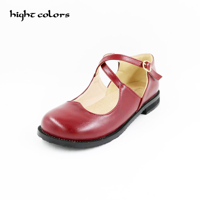 20.5cm~26.5cm Plus Size 31~43 Fashion New Sweet Womens Round Toe Casual Buckle Cross Strap Mary Jane Girls Ballet Flats Shoes new 2017 spring summer women shoes pointed toe high quality brand fashion womens flats ladies plus size 41 sweet flock t179