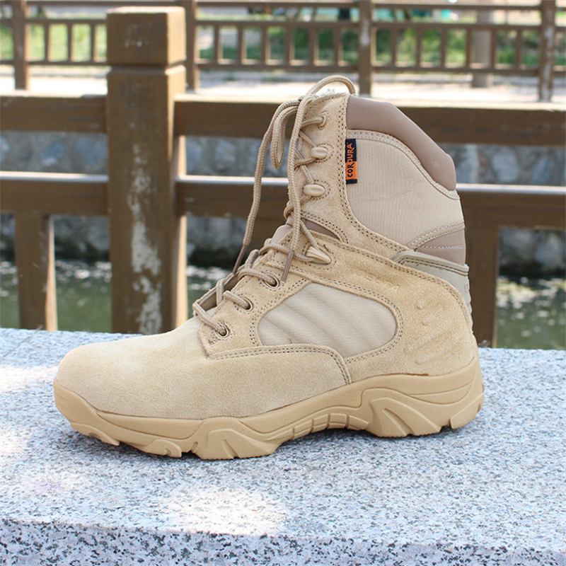 Barcos 2 3 Trabalho Militares Neve Deserto Tático Força Inverno 4 1 Exército Delta Tornozelo Outono 2018 Botas Combate Sapatos Especial Homens De Couro wxfRR