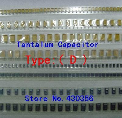 10PCS  Tantalum Capacitor  7343  Type:D   337  330UF 2.5V