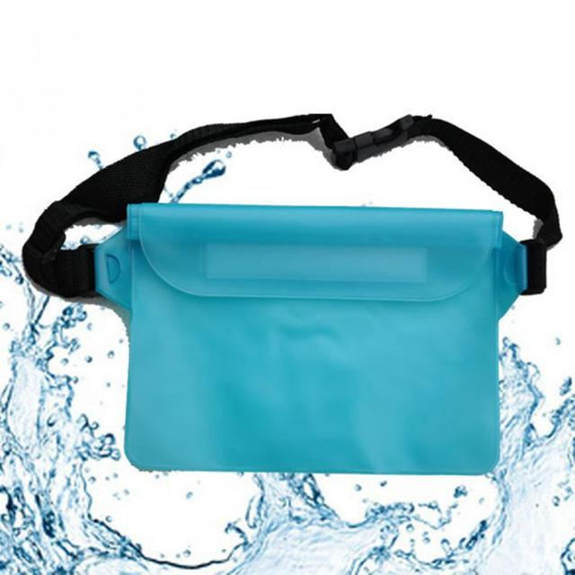 Three Layers Waterproof Underwater Waist Bag Pack Water Beach Dry Pouch Phone Case Wallet