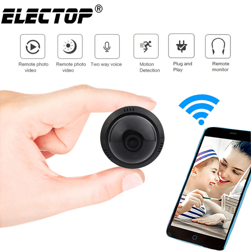 E09 HD Home Security MINI WIFI 1080P IP Camera Wireless Small CCTV Infrared Night Vision Motion Detection SD Card Slot Audio APP image