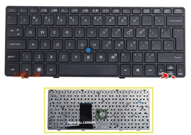 Новый ПОЛЬЗОВАТЕЛЬСКИЙ ИНТЕРФЕЙС Клавиатуры Английский Для HP Elitebook 2560 2560 P 2570 2570 P Ноутбук черная Клавиатура