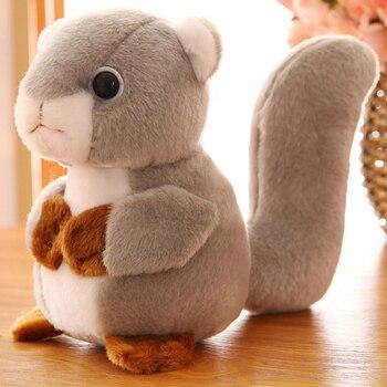 Kuscheltiere Mini Cute 20cm Squirrel Plush Toy Dolls Stuffed Animals Doll Cartoon Stich Ty Soft Toys Jugetes For Children Gifts N041