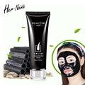 Preto carvão vegetal tomada de garrafa de peles pro removedor de cravo Tearing nariz mulheres homens preto cabeça máscara de cuidados da pele ance saudável & beleza