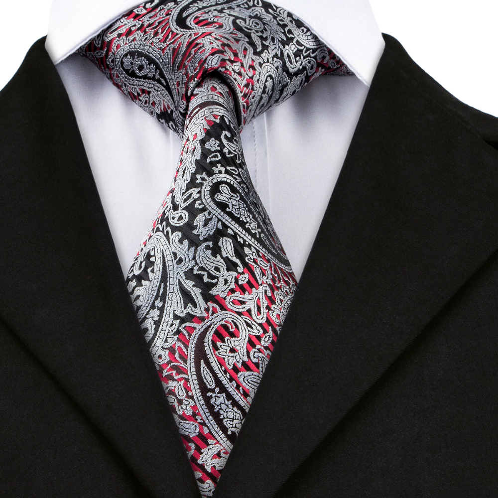 Aliexpress.com : Buy Red Black Gray Paisley For Men