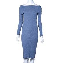2017 Dress For Women Long Sleeve Off Shoulder