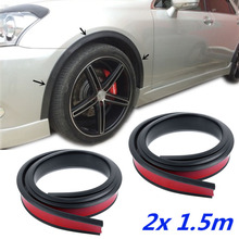 2pcs Rubber Car Wheel Protection Anti-Collision Strips Arch Moldings Fender Flares Protector