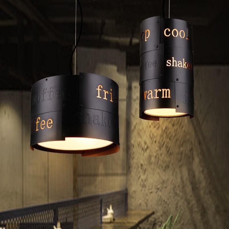 Retro Loft pendant lamp nordic creative light personality retro iron bar club dining room cafe aisle restaurant chandelier