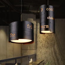 Retro Loft pendant lamp nordic creative light personality retro iron bar club dining room cafe bar aisle restaurant chandelier