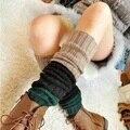 A Forma das mulheres Inverno Crochet Malha Polainas, Bota Legging Tampa, patchwork 6 cores, Tamanho Livre (nwt1)