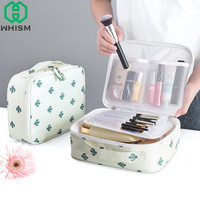 WHISM Cosmetic Bags Oxford Cloth Makeup Bag Female Professional Cosmetic Fox Case Women Pouch Travel Toiletry